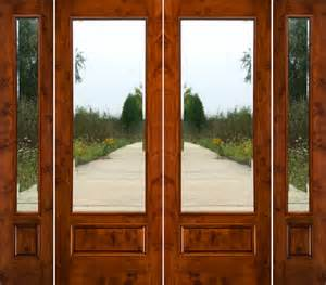 rustic french doors with sidelights solid knotty alder doors