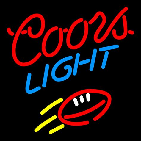 Coors Light Red Football Neon Sign Neon