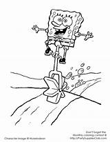 Coloring Pages Unicycle Spongebob sketch template