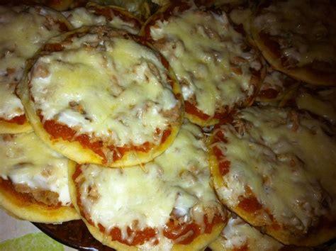 minis pizzas thon cr 232 me fraiche et poulet pomme de terre