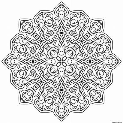 Mandala Mandalas Coloriage Coloring Zen Antistress Fleurs