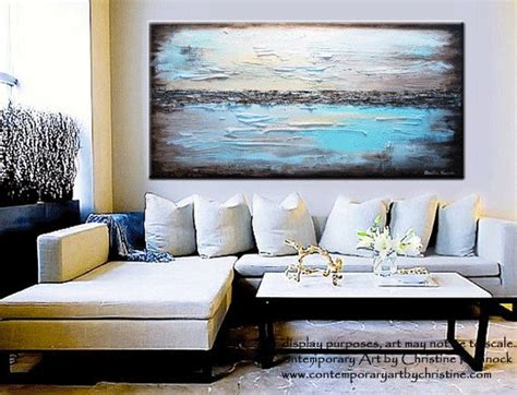 Original Art Abstract Painting Modern Blue Textured