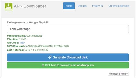 how to apk files directly from play store