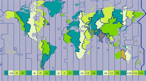verdenskart tidssone bilder