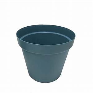 Pot Fleur Plastique : pot de fleurs en plastique ansania 58cm bleu orage ~ Premium-room.com Idées de Décoration