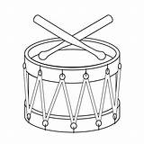 Drum Coloring Drums Drawing Toy Pages Line Christmas Percussion Printable Toys Outline Clipart Template Coloringpages Templates Drawings Clip Drumsticks Children sketch template