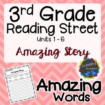 grade reading street amazing words writing