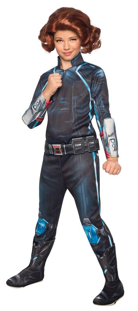 Avengers 2 Deluxe Black Widow Costume For Kids Walmart