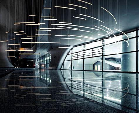 lighting system in building sculptural light installation for public areas l