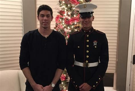Christian Yelich's Brother Throws Out First Pitch After Military Discharge
