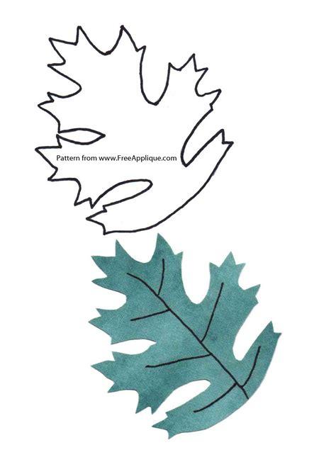 printable leaf patterns  applique quilting crafts