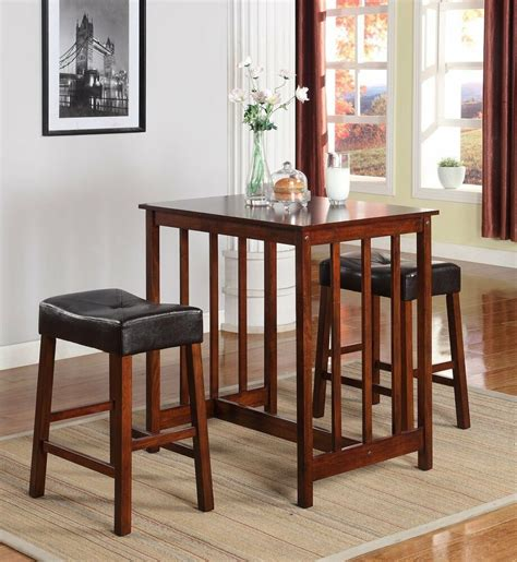 Breakfast Table With Stools by Counter Height Dining Breakfast Set Bar Wood Table Stool