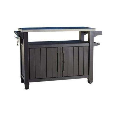 Suncast Patio Storage And Prep Station Bmps6400 by Deck Boxes Sheds Garages Outdoor Storage The Home Depot