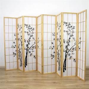 Zen, Garden, Room, Divider, Screen, Natural, 8, Panel