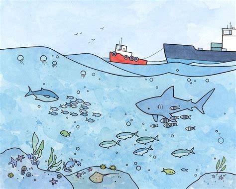sea underwater ocean illustrations studiotuesday
