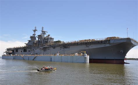 File:Launch of USS Tripoli (LHA-7) at Huntington Ingalls ...