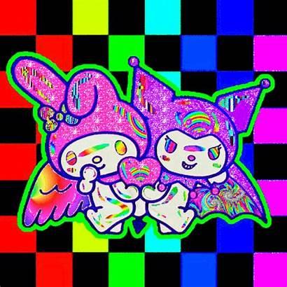 Aesthetic Rainbow Melody Scenecore Scene Kuromi Eye