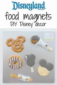 Disneyland food magnets DIY Disney decor - Brie Brie Blooms