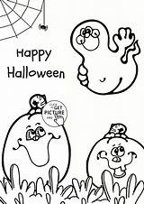 Coloring Halloween Ghost Pages Pumpkin Happy Pumpkins Printables Colouring Printable Spooky Wuppsy Sheet Preschool Cartoon Bat Getcolorings Wallpapers Decorations Crafts sketch template