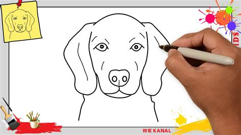 bilder zum nachmalen für kinder hund zeichnen gesicht 4 schritt f 252 r schritt f 252 r anf 228 nger kinder zeichnen lernen