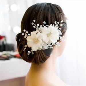 Wedding Bridal Red Flower Charming Hair Ornaments Beaded