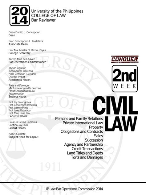 BOC 2014 - Civil Law Reviewer | Law Of Agency | Intestacy