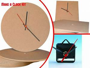Make A Clock Kit  Quartz Kit  Square Mdf And Circular Mdf