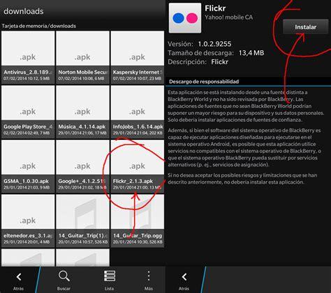 c 243 mo instalar aplicaciones apk con blackberry 10