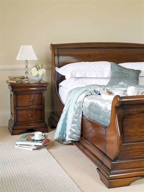 Normandie Mahogany 5ft King Size Sleigh Bed Frame