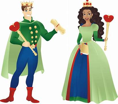 Queen King Clipart Clip Cliparts Medieval Hearts