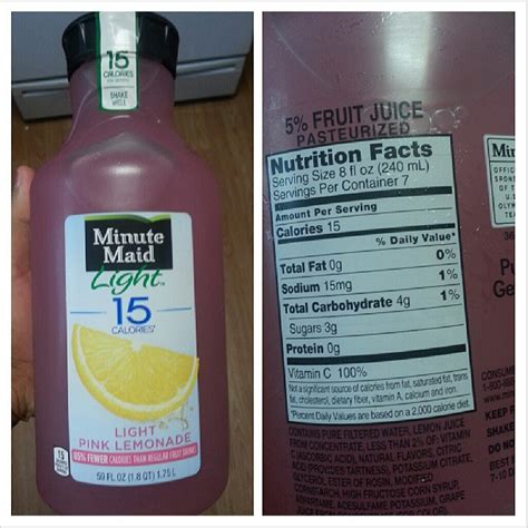 minute maid light lemonade nutrition facts shannon 39 s lightening the load may 2013