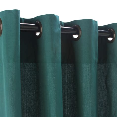 weathersmart outdoor curtain with grommets emerald