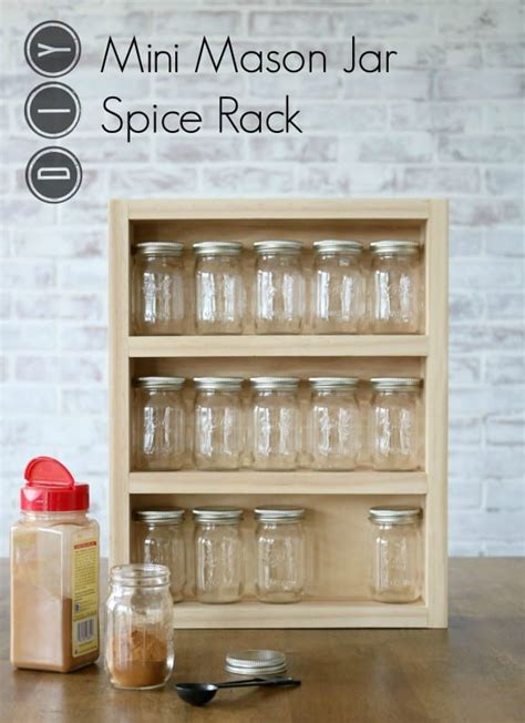 Mini Spice Rack by Andrew Mawby Build A Mini Jar Spice Rack