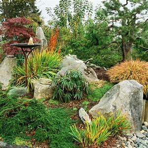 Gartengestaltung Mit Rindenmulch Und Steinen : 53 erstaunliche bilder von gartengestaltung mit steinen ~ Bigdaddyawards.com Haus und Dekorationen