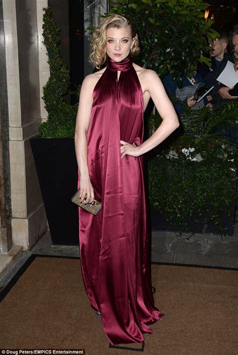 Natalie Dormer Dress by Natalie Dormer Dons A Crimson Backless Dress At Evening