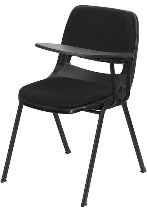 flash furniture padded black ergonomic shell chair w left