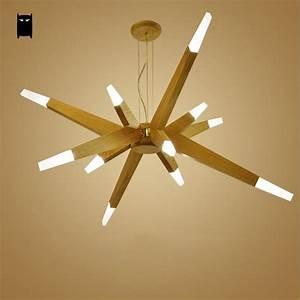 Lustre Bois Design : led bois branche pendentif luminaire contemporain nordique ~ Teatrodelosmanantiales.com Idées de Décoration