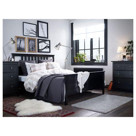 ikea bed black hemnes bed frame black brown l 246 nset standard king ikea