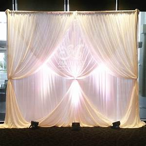 2 Layer Curtain Ties Wedding Backdrop (with lights) - $POA