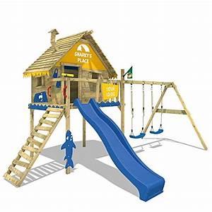 Haus Mit Rutsche : wickey spielturm smart sky stelzenhaus baumhaus kletterturm aus holz mit doppelschaukel holzdach ~ Orissabook.com Haus und Dekorationen