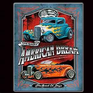 Plaque Vintage Metal : plaque m tal vintage american dream ~ Teatrodelosmanantiales.com Idées de Décoration
