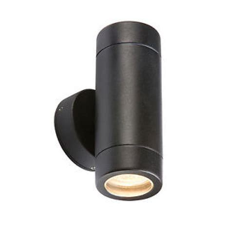 black up down twin outdoor wall light