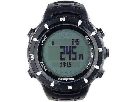 uhr mit höhenmesser semptec uhren mit h 246 henmesser outdoor armbanduhr f 252 r trekking black edition multifunktions