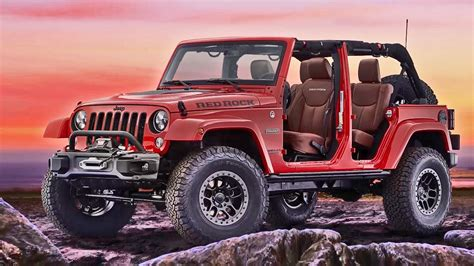 jeep cars red 2017 jeep wrangler red rock concept interior exterior