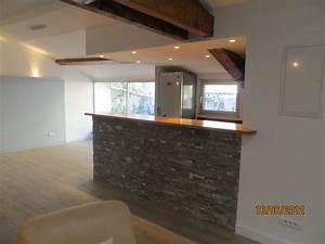 amenagement bar maison bar cuisine bois amenagement idees With attractive idee deco terrasse jardin 8 deco salon et cuisine ouverte
