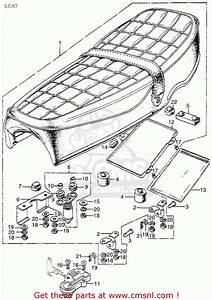 Honda Cl350 Scrambler 1973 K5 Usa Seat
