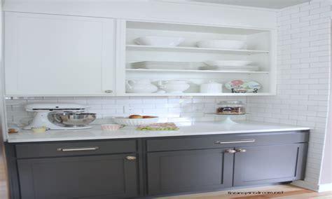 Gray Lower Cabinets Dove White Upper Interior Designs