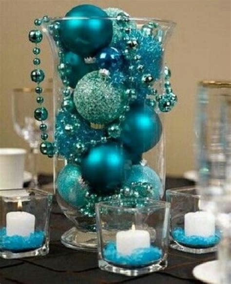 christmas table decoration ideas blue