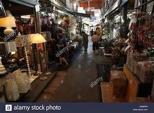 Walkway near a home decor shop at Chatuchak Weekend Market ...