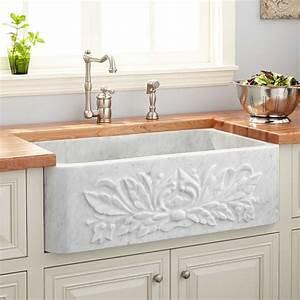 30, U0026quot, Ivy, Polished, Marble, Farmhouse, Sink, -, Carrara, -, Stone, Farmhouse, Sinks, -, Farmhouse, Sinks